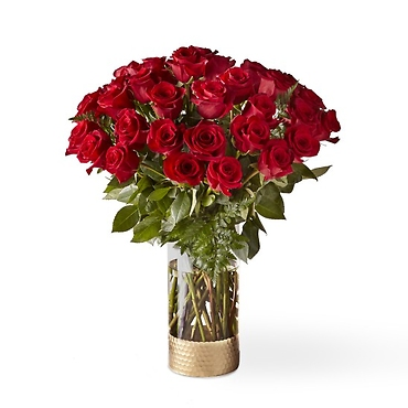 The FTD Lovebirds Red Rose Bouquet